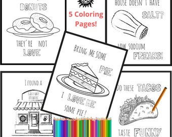 Supernatural Fandom Coloring Pages | SPN Family | Wayward Son | Funny Kitchen Wall Art | Gift For Geeks | FanGirl Coloring Page