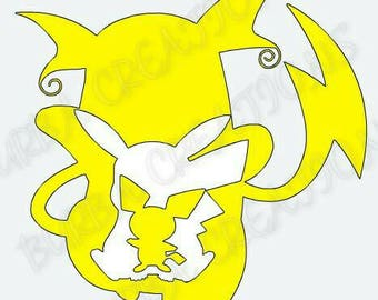 Pichu, pikachu, Raichu vinyl decal