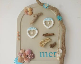 Table decorative theme of the sea * Driftwood * shells