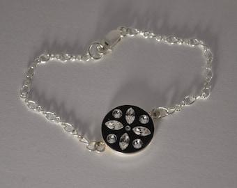 Spring bracelet Silver 925 Swarovski crystals