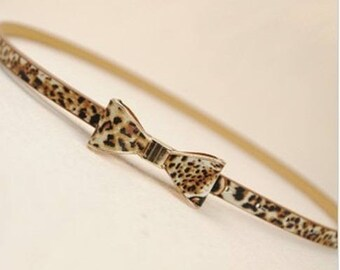 belt loop bow leopard