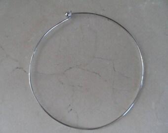 Necklace silver rigid torque 12 cm