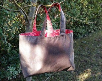 Small handbag in Brown and Red