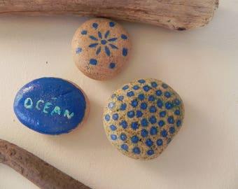 Pebbles interpreted way sulfide, blue N 16