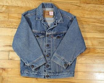 Vintage 80s Levi's Kids Jacket Size 7x
