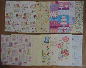 12 papers scrapbooking or cardmaking 15.2 cm x 15.2 cm
