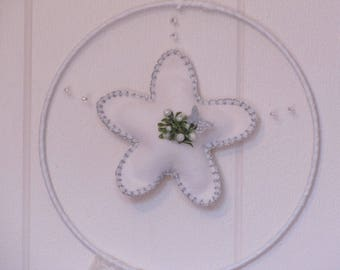 Dream catcher Silver Star and Butterfly