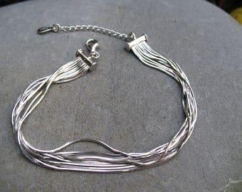 Multi chains d Silver 925 bracelet