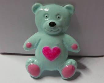 Green clay bear magnet