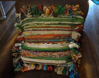 Recycled fabric pillow cover - medium