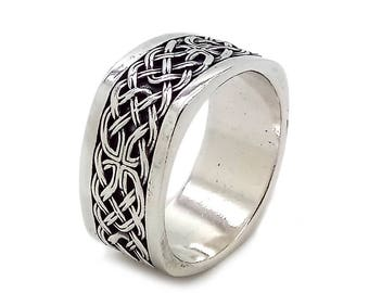 Viking Ethnic Men Ring Sterling Solid Silver 925 SKU700510