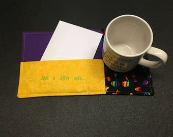 Just a little note mug rug