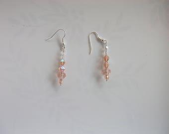 Earrings pink pale Crystal