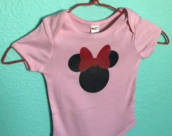 Mouse Head with Bow Tee