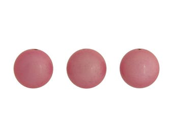 Average set of 2 magical acrylic round beads pink 20mm - free shipping - design beads