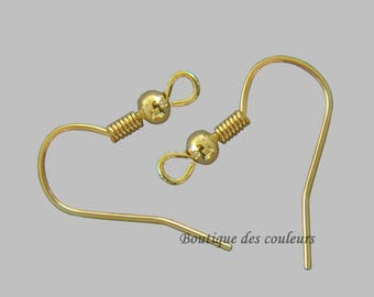 Bag of 150 medium crochet earrings gold tone 18mm - free shipping