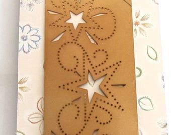 For embroidery, embossing and cutting ref.1002 stars STENCIL
