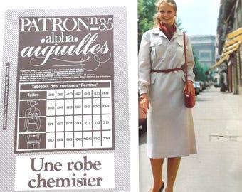 Alpha pattern needles No. 35 - woman shirt dress