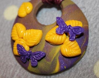 A piece of nature - necklace - polymer clay creation