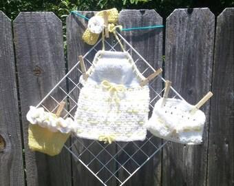 4 piece infant girls set.