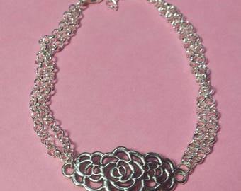 Bouquet of roses print bracelet