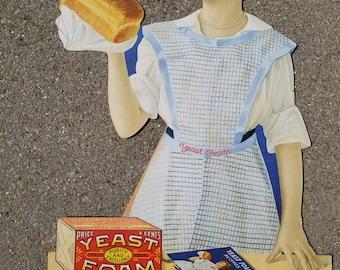 Vintage Yeast Foam Baking Sign
