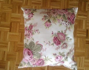 FABRIC ROSES PATTERN CUSHION HAS THE OLD
