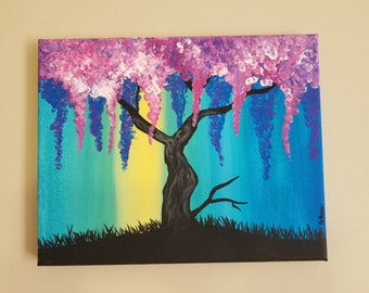 Willow Tree Canvas 8x10