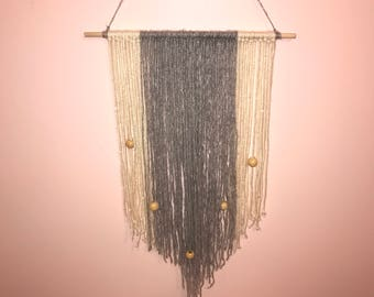 Yarn wall hanging- Beaded