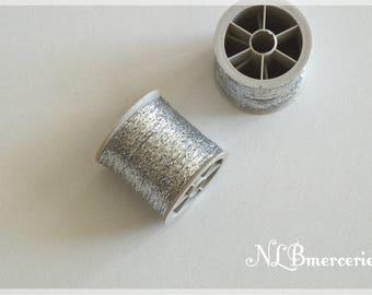 Gray Metallic Silver - 100 thread
