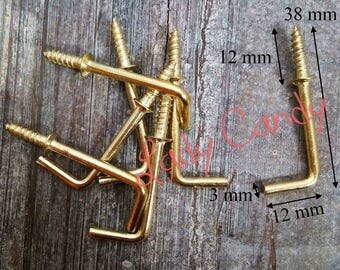Lot 10 hinges screw fixing clip for mirror, frame, frame, decorative wall hanging #120065