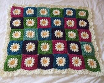 Baby Blanket - Daisy Crochet