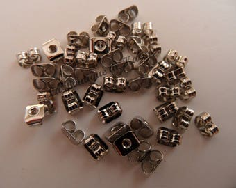 100 CLASPS EARRINGS METAL SILVER - CREATING JEWELRY BEADS