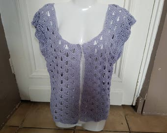 Purple sleeveless vest in the hook t. 38/40