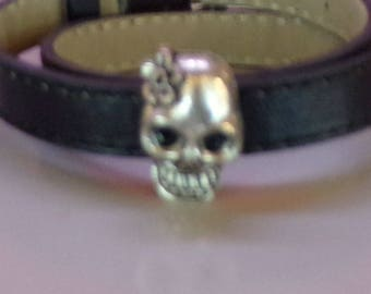 Double bracelet Emo skull