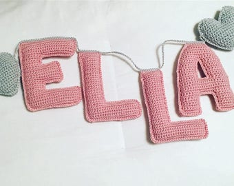 3d Letter Crochet Personalized Name