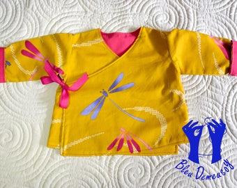 Kimono baby, reversible wrap