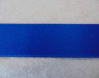 Satin ribbon, blue flag, width 25 mm (S-224)