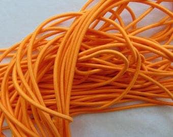 Elastic in hat, orange, diameter 2.5 mm (E-11)