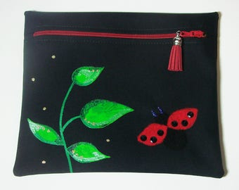 """Noreen"" Ladybug pouch - makeup case"