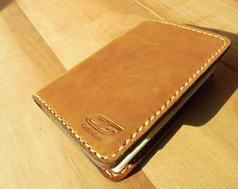 Paper holder handcrafted leather