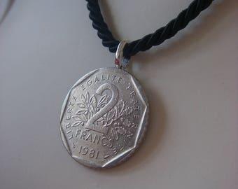 Necklace 2 francs 1981