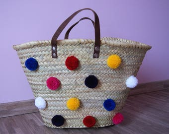 Straw Tote with 12 tassels