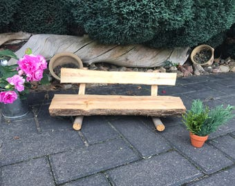 Small bench made of wood