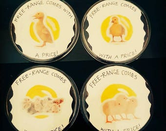 Free-Range Vegan Badges
