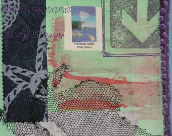 "Textile art print called ""rich"""