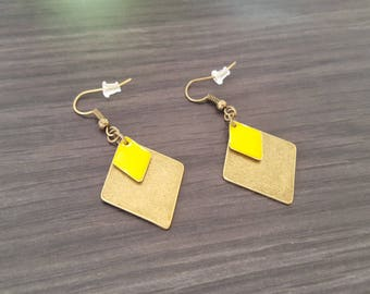 Large yellow diamond Earrings