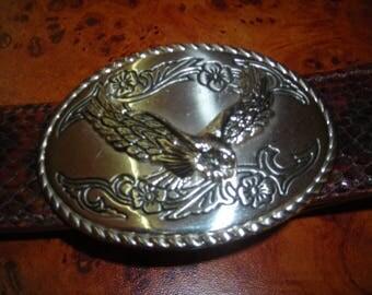 Vegetable leather western belt buckle Eagle
