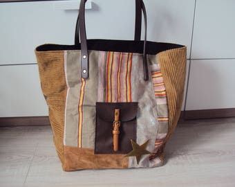 """Your"" camel patchwork handbag"
