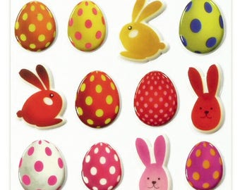"""Stickers Cooky embossed """"Easter"""" x 20 - MAILDOR - Ref 560420"""